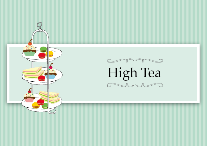 High Tea card